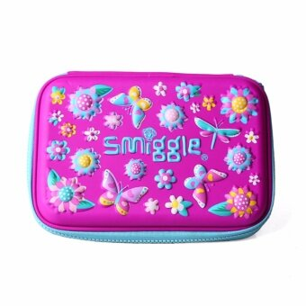 Smiggle Hardtop Pencil Case - Butterflies