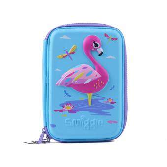 Smiggle Hardtop Pencil Case - Flamingo Wild