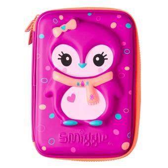 Smiggle Hardtop Pencil Case - Purple Penguin