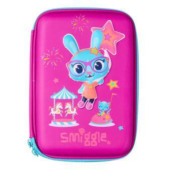 Smiggle Hardtop Pencil Case - Purple Rabbit