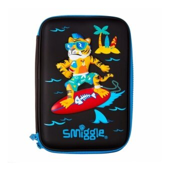 Smiggle Hardtop Pencil Case - Surfing Tiger
