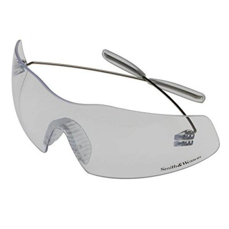 Smith & Wesson Phantom Safety Glasses (19839), Pewter Frame, Clear Lens, 12 Pairs / Case