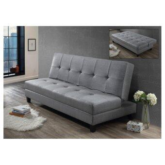 Harga SOFA BED FABRIC GREY EK51