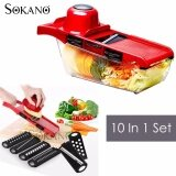 (RAYA 2019) SOKANO 10-In-1 High Quality Vegetables Grater Portable Slicer Set