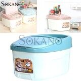 (RAYA 2019) SOKANO 12kg Rice Box RC01Trendy Houseware Kitchen Dapur Storage Container with Wheels and Lid - Blue