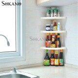 (RAYA 2019) SOKANO 3 Tiers C001101 Kitchen Organizer Seasoning Rack Kitchen Dapur Corner Rack with Adjustable Length (80cm- 100cm)