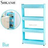(RAYA 2019) SOKANO 4 Tier Space Saver Kitchen Dapur Rack - Blue