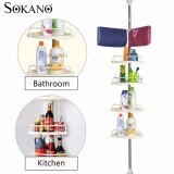 SOKANO 4 Tiers Organizer Rack and 2 Towels Hangers with Adjustable Length (255cm- 310cm)
