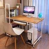 (RAYA 2019) SOKANO B217A Multipurpose Writing and Dekstop Table with Attached Multipurpose Shelf Brown Table with white frame (210390)