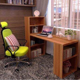 SOKANO B234 Premium Classic Writing Table and Dekstop Wooden Desk With Attached Shelf- Brown (211530)