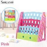 (RAYA 2019) SOKANO BD201 3 Tier Colourful Children Kids Bookshelf Book Organizer - Pink
