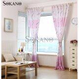 (RAYA 2019) SOKANO CT003 Premium Quality Printed Curtain (2 Panels) 200cm x 270cm- Purple S Design