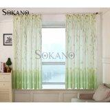 SOKANO CT007 Premium Quality Printed Curtain (2 Panels) 200cm x 200cm- Green Butterfly Design
