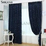 (RAYA 2019) SOKANO CT020 Premium Blackout Curtain 1 Panel (200cm x 270cm)- Dark Blue Star Design