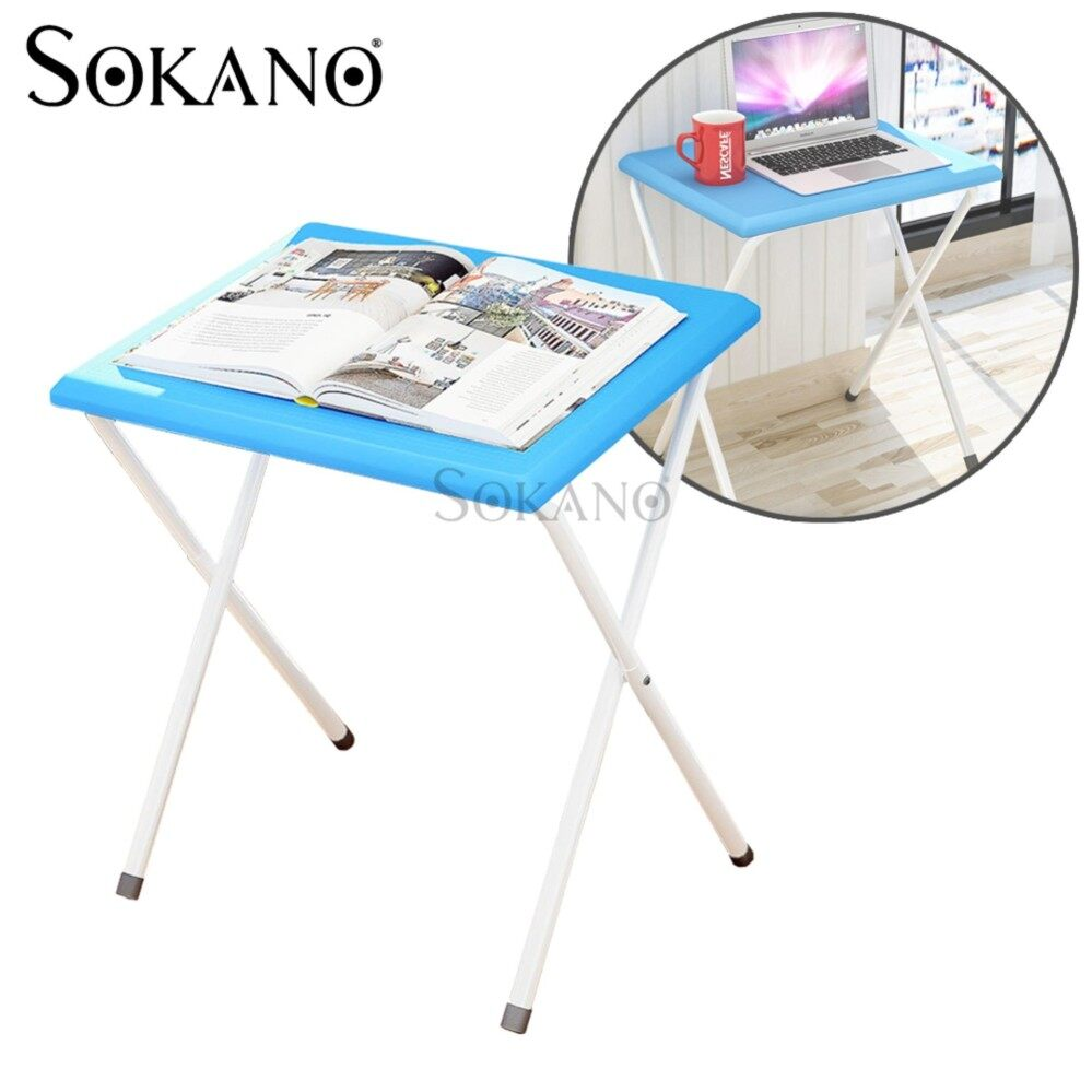 SOKANO DNZ626 Foldable Portable Table with 2 Adjustable Angel - Blue