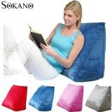 (RAYA 2019) SOKANO Extra Large Ergonomic Back Support Bed Stand Up Wedges Pillow- Blue
