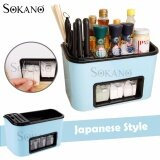 (RAYA 2019) SOKANO Japanese Style All in 1 Multipurpose Seasoning Rack with Knife Kitchen Dapur Rack and Holder - Light Blue