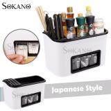(RAYA 2019) SOKANO Japanese Style All in 1 Multipurpose Seasoning Rack with Knife Kitchen Dapur Rack and Holder - White
