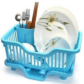 Harga SOKANO Kitchen Creative Dish Drainer With Holder- Blue