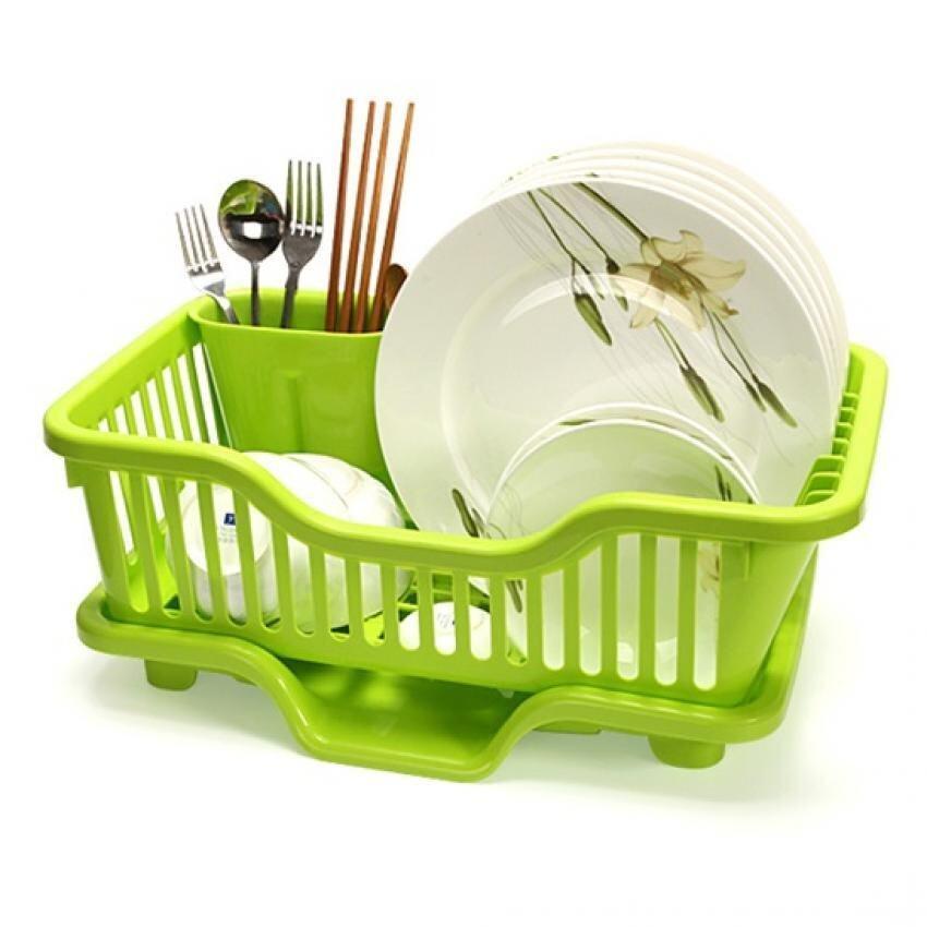sokano kitchen creative dish drainer with holder green lazada malaysia