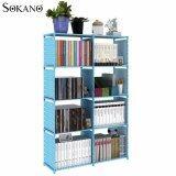 (RAYA 2019) Sokano Premium Multifunctional DIY Book Storage Shelf 5 Tier with 8 Columns (Blue)