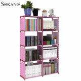 (RAYA 2019) Sokano Premium Multifunctional DIY Book Storage Shelf 5 Tier with 8 Columns (Pink)