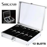 SOKANO Premium Quality Aluminium 12 Slot Watch Jewellery Storage Container Box Best Gift
