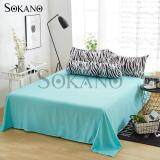 SOKANO SB008 Premium 4 in 1 Bedsheet- Light Green