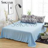 SOKANO SB008 Premium 4 in 1 Bedsheet- Blue