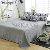 SOKANO SB008 Premium 4 in 1 Bedsheet- Silver Grey