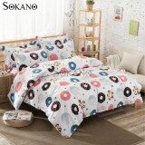 SOKANO SB014 4 in 1 Premium Bedsheet Bedding Set