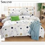SOKANO SB017 4 in 1 Premium Bedsheet Bedding Set