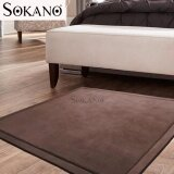 SOKANO SC001 Extra LARGE Japanese Carpet Tatami Floor Mat Rug Velvet Soft for Kids and Family Bedroom Living Room (200cm x 120cm x 2cm) - Brown