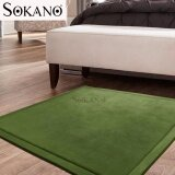 SOKANO SC001 Extra LARGE Japanese Carpet Tatami Floor Mat Rug Velvet Soft for Kids and Family Bedroom Living Room (200cm x 120cm x 2cm) - Green