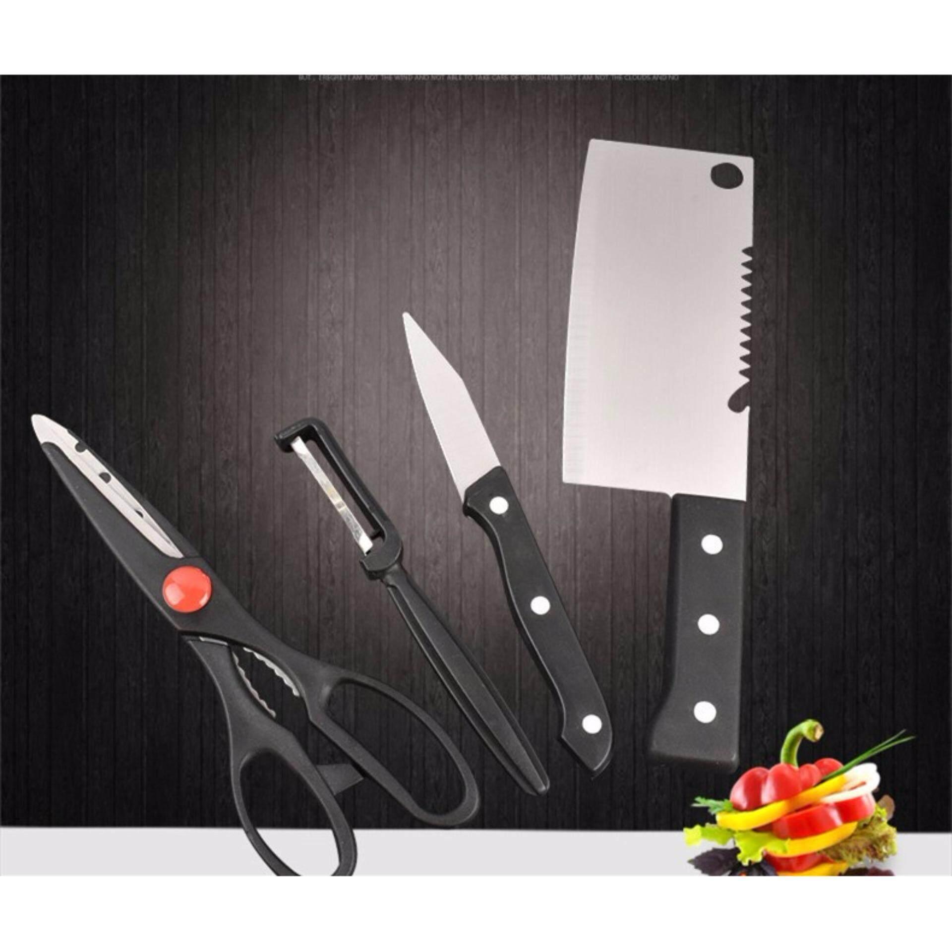 SOKANO set of 4 Stainless Steel Kitchen Dapur Knife Set Kitchen Utensil
