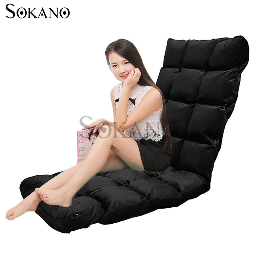 SOKANO SF005 XL Size Foldable Sofa Futon(147cm)- Black