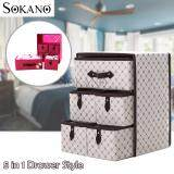 (RAYA 2019) SOKANO SO001 Large Capacity 5 in 1 Drawer Style DIY Organizer Set - Polygonal
