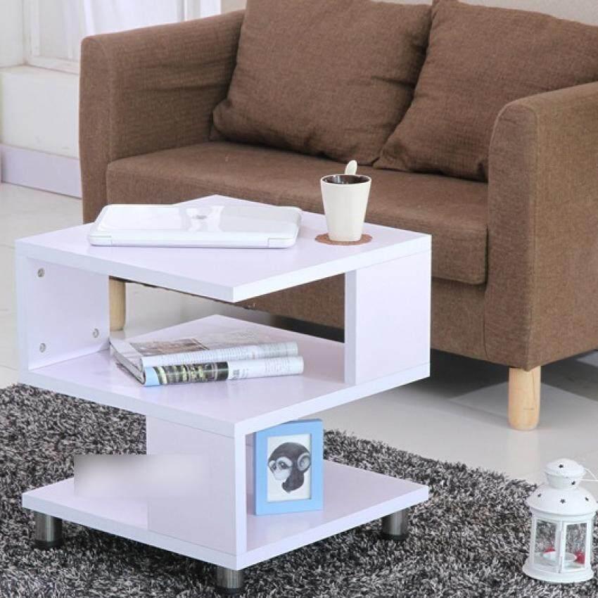 sokano square shaped simple coffee table sofa side table white lazada malaysia