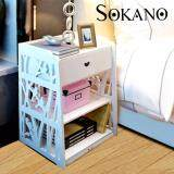 (RAYA 2019) SOKANO WF005 European Style Beside Tables For Bedroom- White