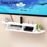 SOKANO WF006 European Style Wooden TV Rack Organizer- White