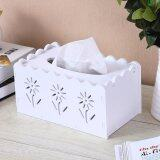 SOKANO WF007 European Style Wooden Tissue Box- White