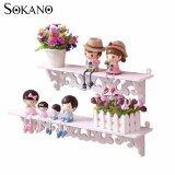 (RAYA 2019) SOKANO WF009 European Style 2 Tiers Wooden Decoractive Hanging Shelf- White