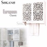 SOKANO WF017 Water Resistance European Classic Style Wooden Bathroom Toilet Storage Cabinet Storage Rack with Towel Rack