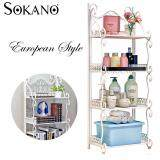 (RAYA 2019) SOKANO Z674 European Style 4 Tiers Multifunctional Stainless-Steel Rack Shelf - White