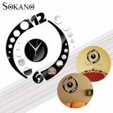 SOKANO ZB019 DIY 3D Acrylic Mirror Quartz Wall Clock Sticker Home Modern Decoration