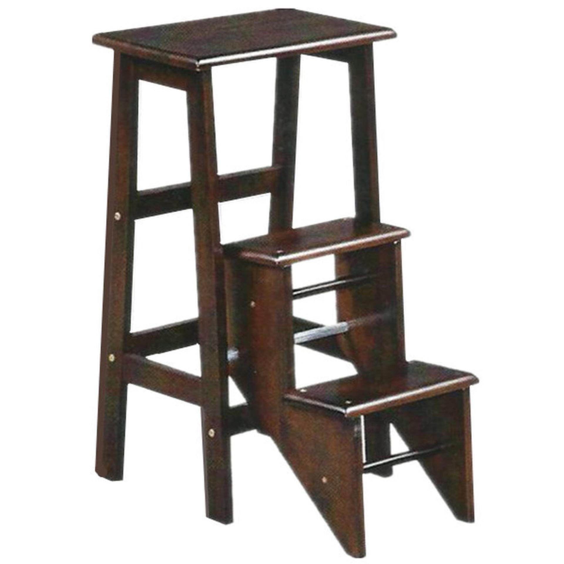 Solid Wooden Step Ladder Chair (Oak)