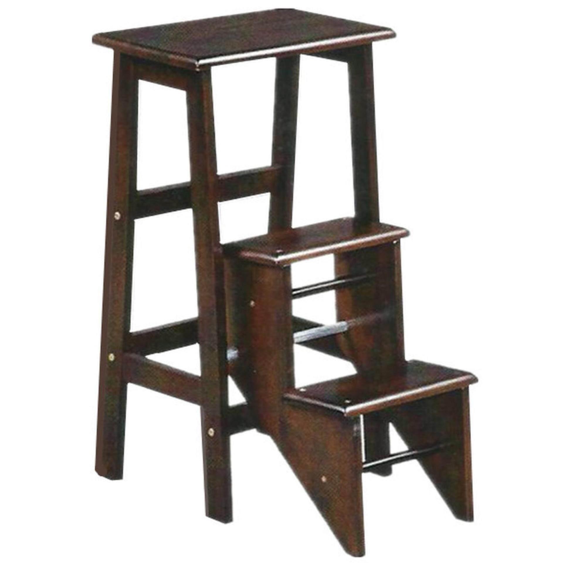 Solid Wooden Step Ladder Chair (Oak)