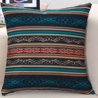 Harga Southeast Asian style geometric pattern linen pillow cover cushionpillow Linen cushion retro style Linen