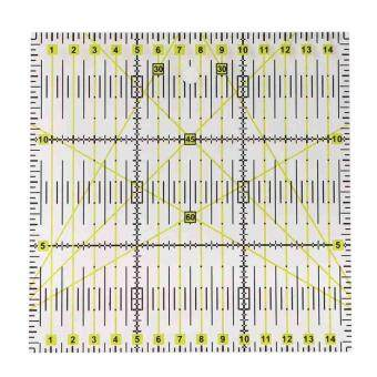 square acrylic clear grid acrylic quilting templates patchwork ruler 15 x15cm
