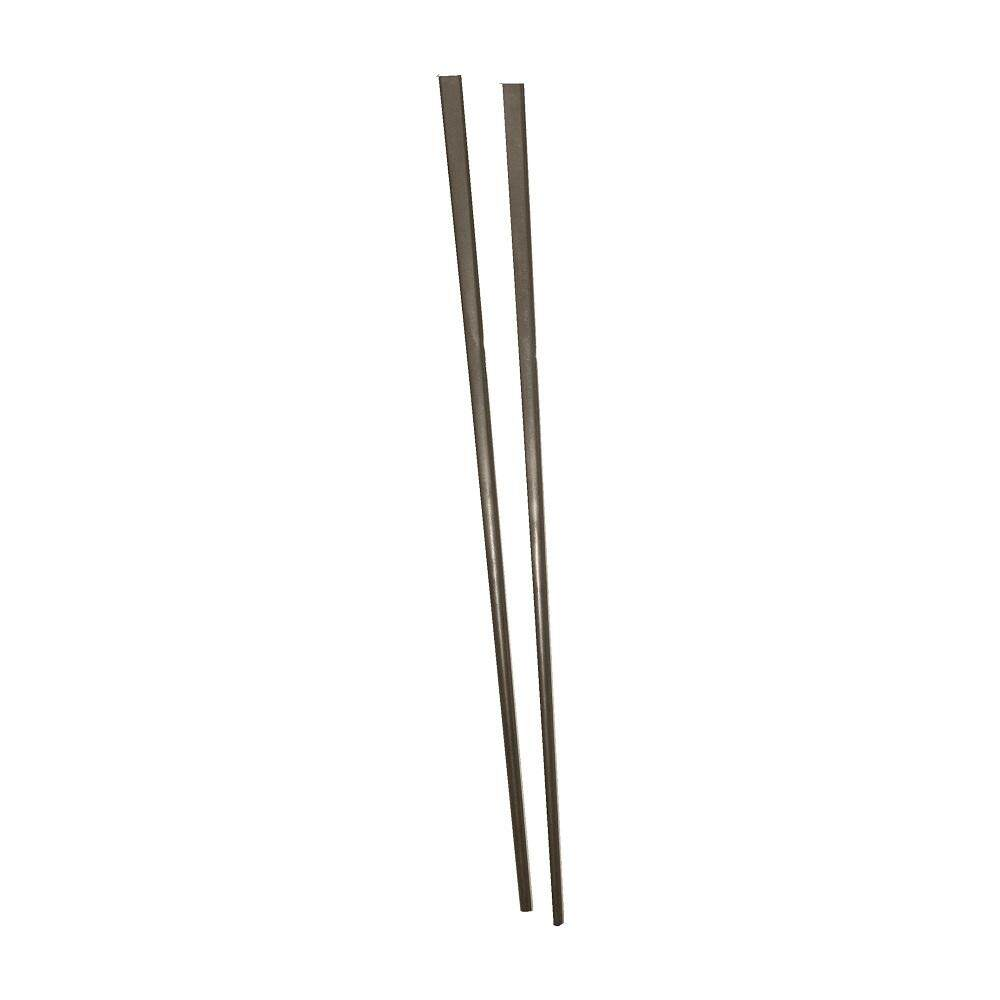 Square Aluminium Chopstick 10 Pairs - Brown